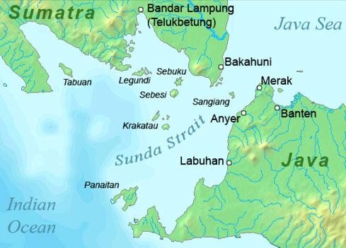 Krakatoa ó oeste de Java