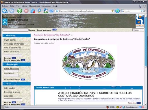 Web da Asociación de Troiteiros Río Furelos