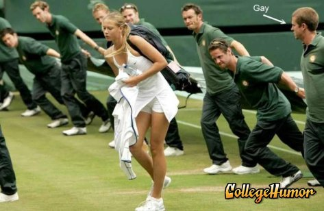 Sharapova is a gay detector