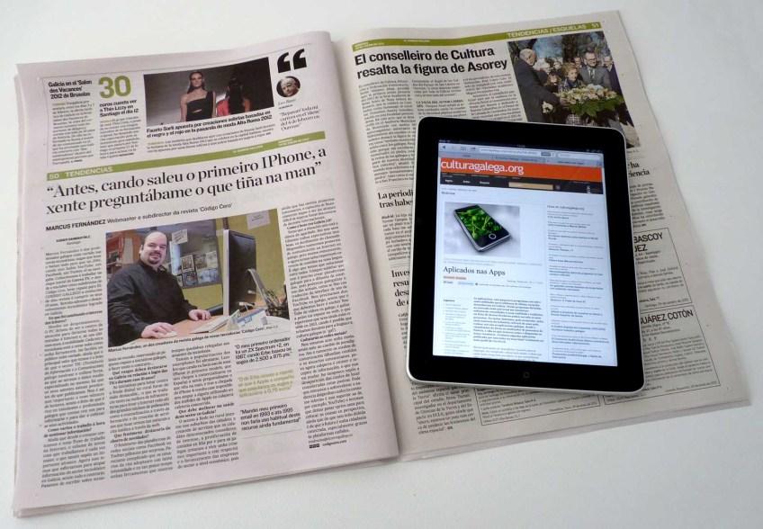 Entrevista en El Correo Gallego
