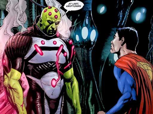 Brainiac debuxado por Gary Frank