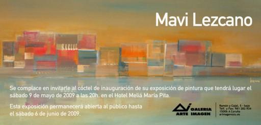 Invitación á inauguración da exposición de Mavi Lezcano