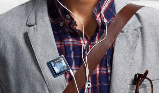 iPod nano na roupa