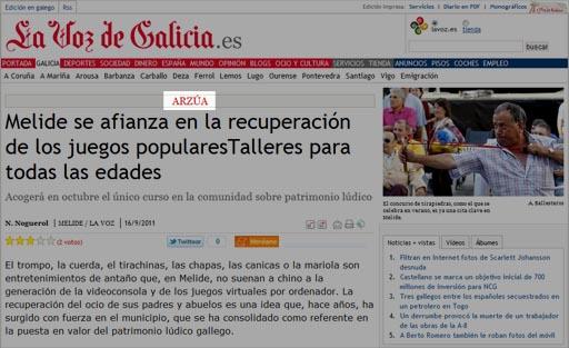 Melide en Arzúa na web de La Voz
