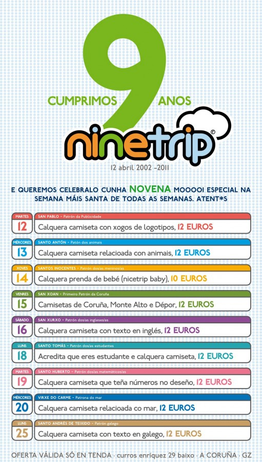 noveno aniversario de Nicetrip