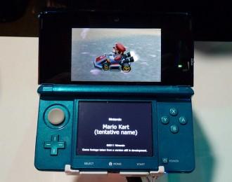 Imaxe conceptual do que podería ser o Mario Kart para 3DS
