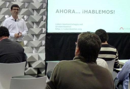 Rubén Bastón na edición de 2011 do B-web