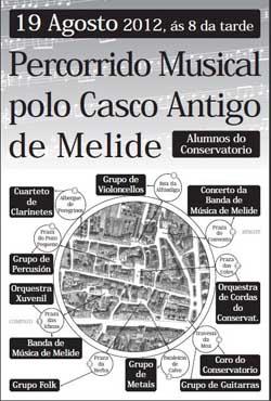 Percorrido Musical polo Casco Histórico de Melide