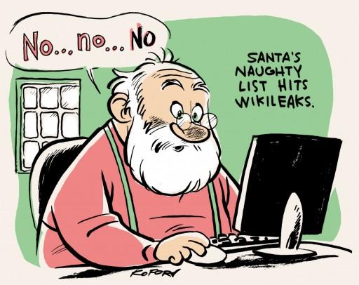 Santa's Naughty List hits WikiLeaks