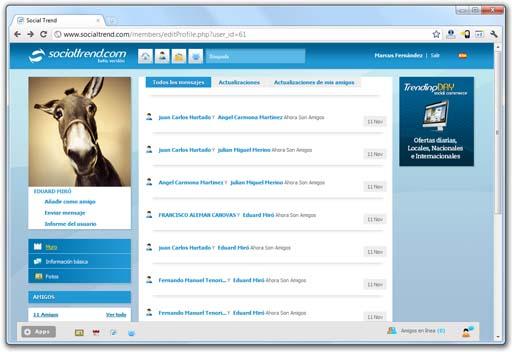 Captura de Socialtrend.com