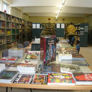 colección de comics da Biblioteca de Melide