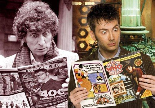 Tom Baker e David Tennant crúzanse na revista Doctor Who