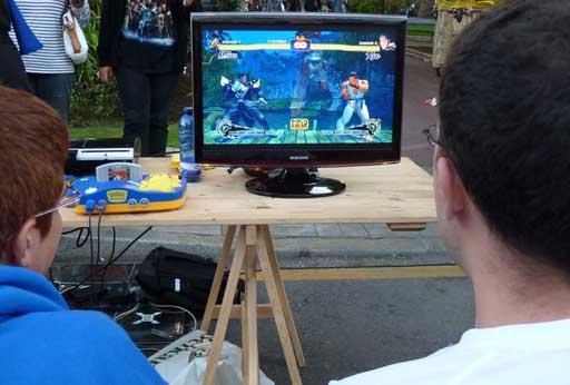 Ryu vs Bison en Viñetas desde o Atlántico