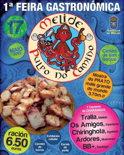 cartel da festa gastronómica Pulpo no Camiño