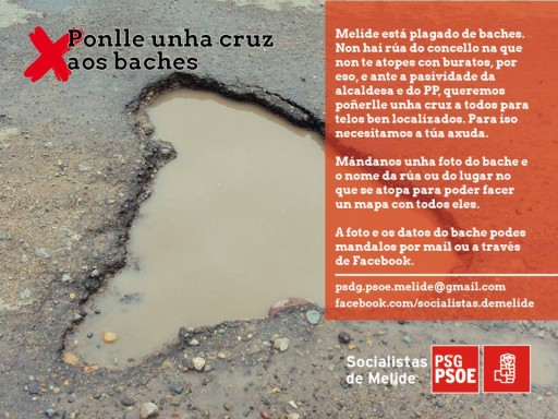 cartel do PSdeG-PSOE melidense