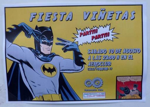 Cartel dunha festa que se celebra hoxe co gallo de Viñetas desde o Atlántico