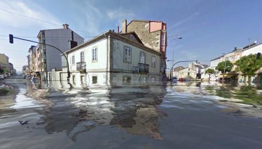 Melide inundado
