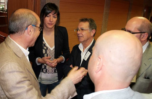 Parte da xunta directiva da Asociación PuntoGal con representantes do BNG
