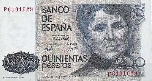 o billete de 500 pesetas