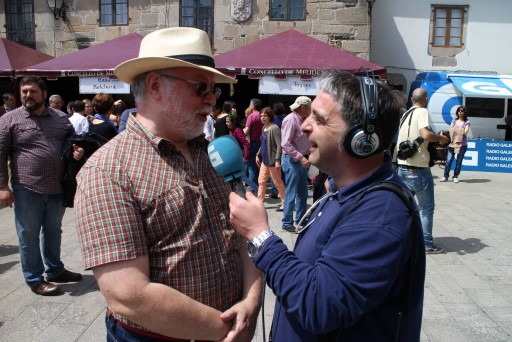 José María García entrevistando a Miguel Vila Colineta para o Come e Fala