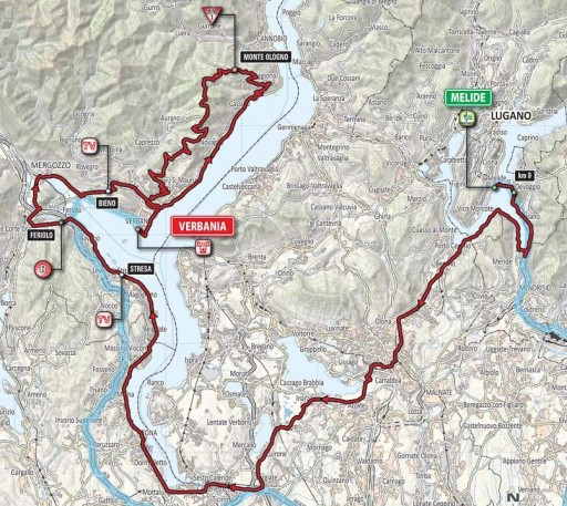 percorrido da etapa do Giro
