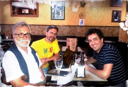 Xavier Alcalá, Alfredo Ferreiro e Manel Cráneo
