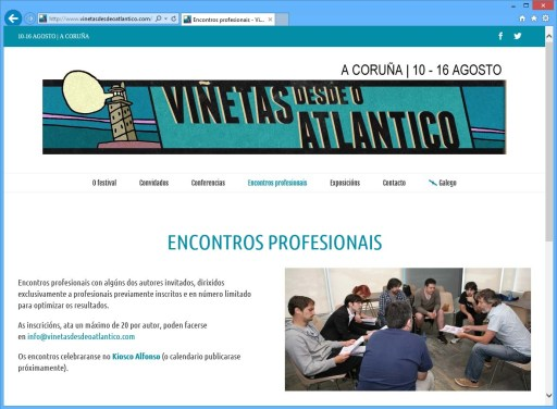 Encontros profesionais na nova web