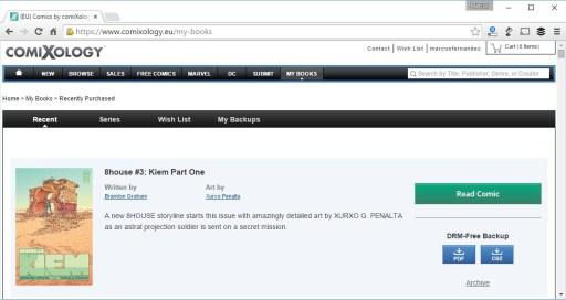 comiXology permite descargar as obras en PDF e CBZ