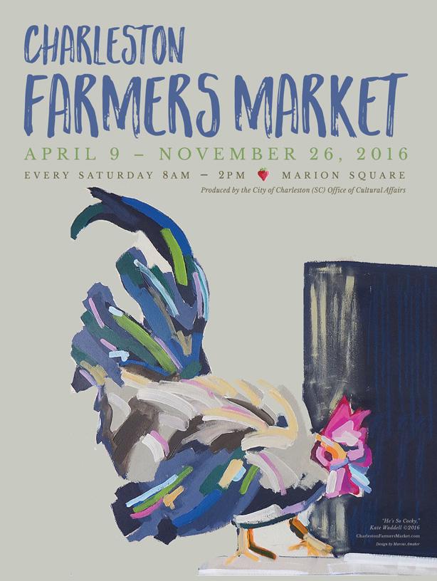 Poster design for the 2016 Charleston Farmers Market in Charleston, SC