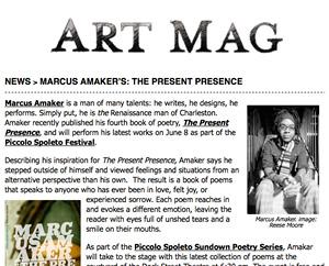 News: Marcus Amaker's The Present Presence Art Mag, June 2012