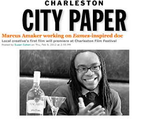 Marcus Amaker working on Eames inspired doc Charleston City Paper, Feb 2012