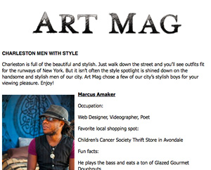 Charleston Men with Style Art Mag, Sept. 2013