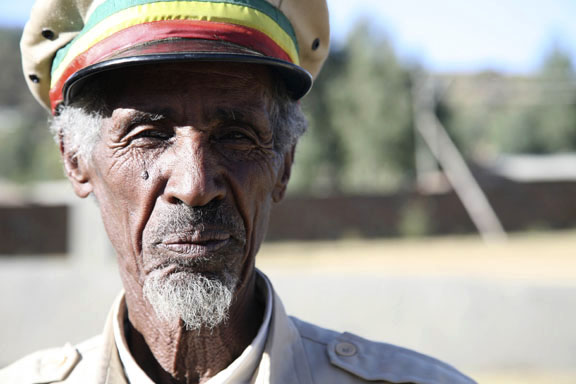 museum guard, Axum