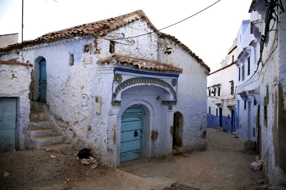 the cool blue medina of Chefchouan, Morocco