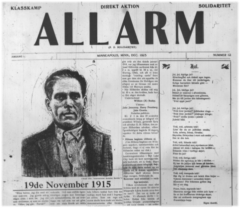 "Issue of ""Allarm"" from December of 1915"