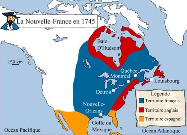 Территория владений Франции в Северной Америке
