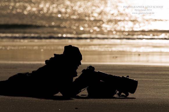 Am Strand der Düne vor Helgoland