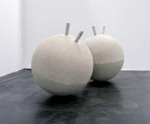 Marcus Kleinfeld, ANTIBODIES, 2010 Cast concrete ø 50cm