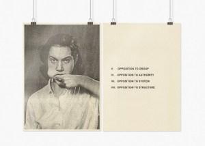 Marcus Kleinfeld, BEHAVIOUR CONTROL (I-IV), 2009 8 inkjet prints on sugar paper 59,4 x 84 cm per set (Text Works)