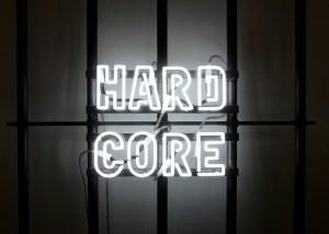 Marcus Kleinfeld, HARD CORE, 2010 Neon, steel 180 x 80 x 5 cm