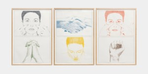 Marcus Kleinfeld, MOTIVATIONAL BEHAVIOUR I-III (Triptych), 2013 Pencil on paper 100 x 70 cm each