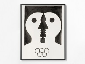 Marcus Kleinfeld, MIND GAMES, 2008 Ink on parchment 80 x 60 cm