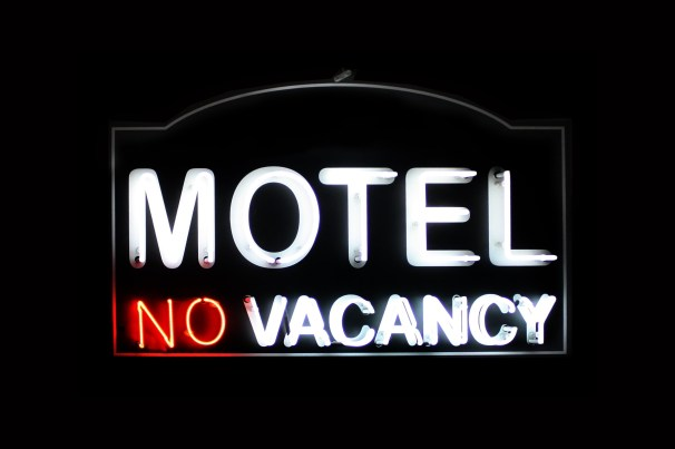 Motel no vacancy neon sign