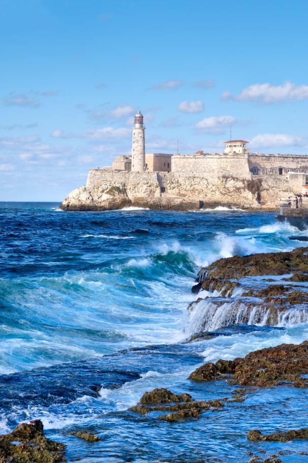 El Morro fortress in Havana during a tropical storm