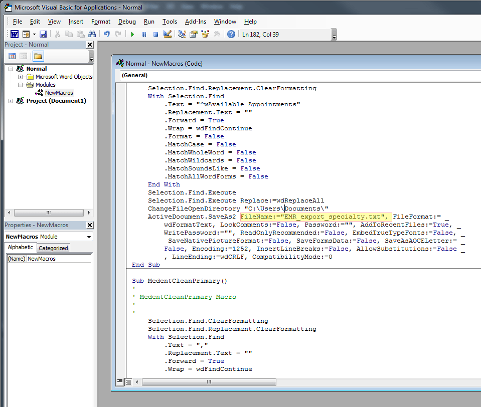 How to scrape and clean data into a CSV using Microsoft Word
