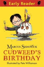 Cover of Cudweed's birthday showing a skull-cake.