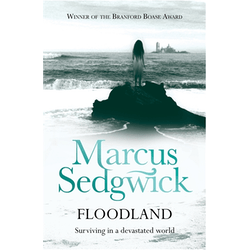 cover of Floodland showing a girl alone by the sea