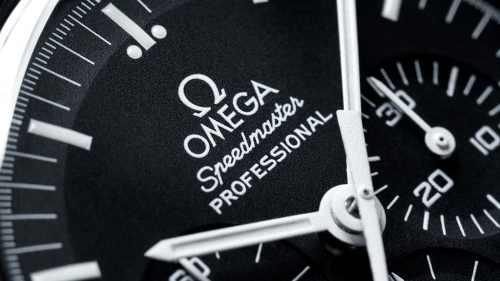 Omega Speedmaster Moonwatch Chronograph Sort Skive Stål 42 MM-31130423001006-1