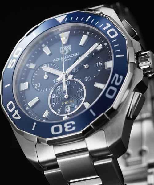 Tag Heuer Aquaracer Chronograph Quartz Blå Skive 43 MM-CAY111B.BA0927 1