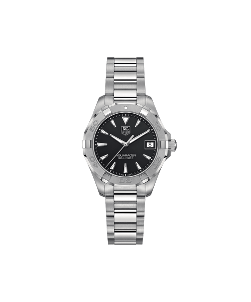 Tag Heuer Aquaracer Quartz Sort Skive Stål 32 MM WAY1310-BA0915